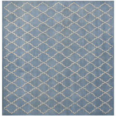 Wilkin Blue Cream Area Rug Rug Size: Square 5