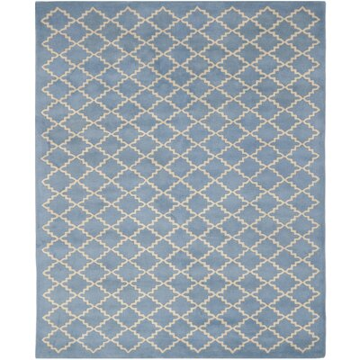 Wilkin Blue Cream Area Rug Rug Size: 10 x 14