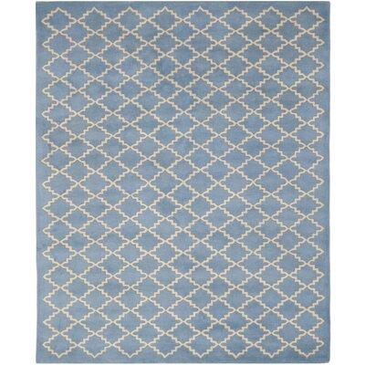 Wilkin Blue Cream Area Rug Rug Size: 10 x 14