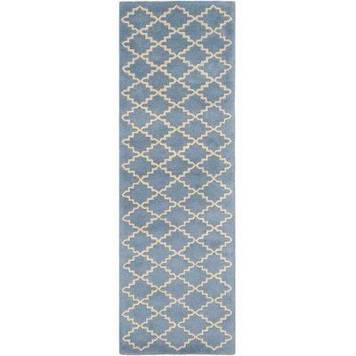 Wilkin Blue Grey Area Rug Rug Size: Runner 23 x 9