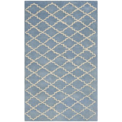 Wilkin Blue Cream Area Rug Rug Size: 4 x 6