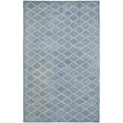 Wilkin Blue Cream Area Rug Rug Size: 5 x 8