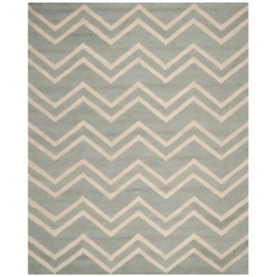 Charlenne Gray & Beige Area Rug Rug Size: Rectangle 9 x 12