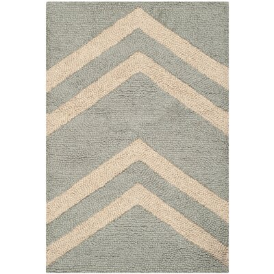 Martins Gray & Beige Area Rug Rug Size: 26 x 4