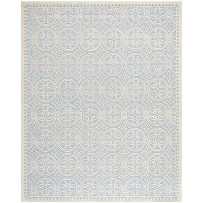 Martins Light Blue & Ivory Area Rug Rug Size: 76 x 96