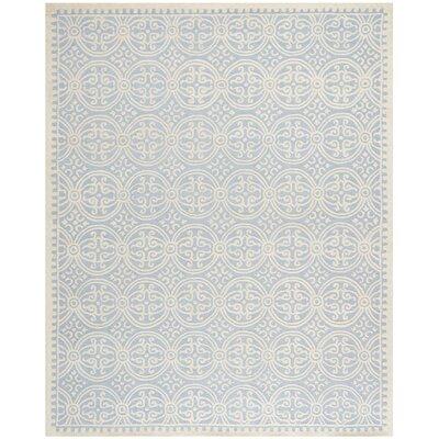 Martins Light Blue & Ivory Area Rug Rug Size: 10 x 14