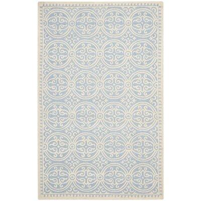 Martins Light Blue & Ivory Area Rug Rug Size: 3 x 5