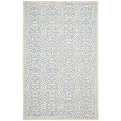 Martins Light Blue & Ivory Area Rug Rug Size: 5 x 8