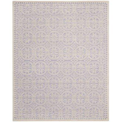 Martins Lavender/Ivory Rug Rug Size: 2 x 3