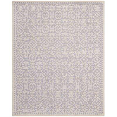 Martins Lavender/Ivory Rug Rug Size: 4 x 6