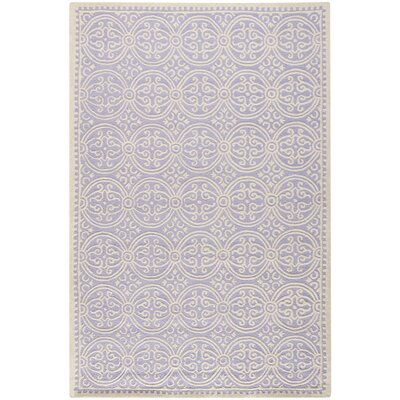 Martins Hand-Tufted Wool Lavender/Ivory Area Rug Rug Size: Rectangle 26 x 4