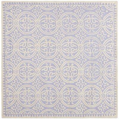 Martins Lavender/Ivory Rug Rug Size: Square 8 x 8