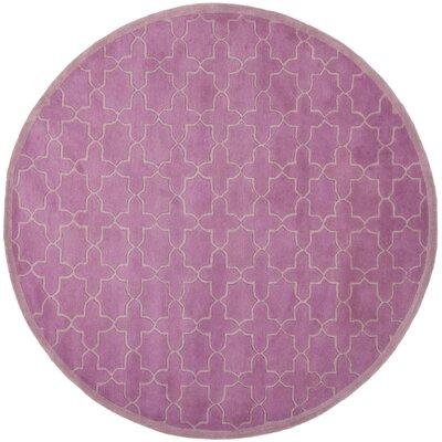 Wilkin Pink Area Rug Rug Size: Round 7