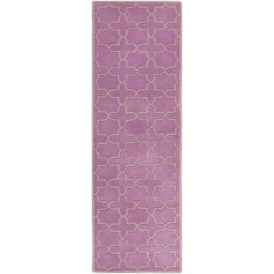 Wilkin Pink Area Rug Rug Size: Runner 23 x 9