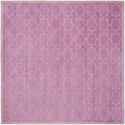 Wilkin Pink Area Rug Rug Size: Square 5