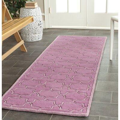 Wilkin Pink Area Rug Rug Size: Runner 23 x 11