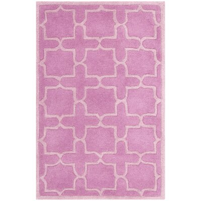 Wilkin Pink Area Rug Rug Size: 2 x 3