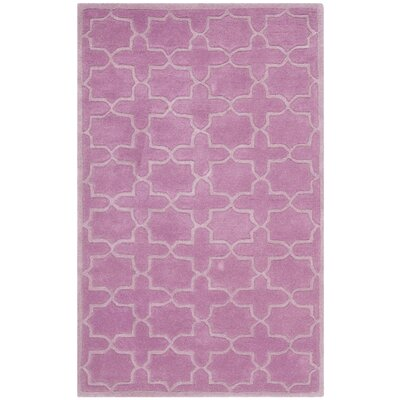 Wilkin Pink Area Rug Rug Size: 3 x 5