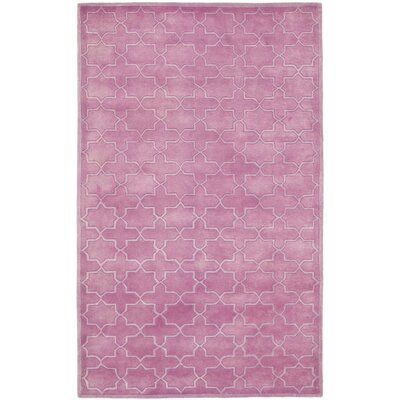 Wilkin Pink Area Rug Rug Size: 4 x 6