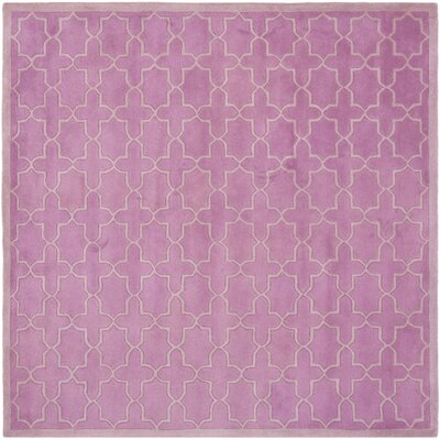 Wilkin Pink Area Rug Rug Size: Square 7