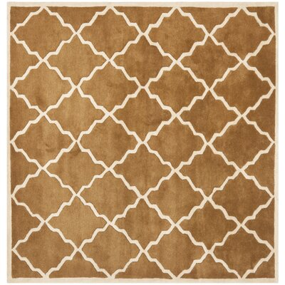 Wilkin Brown Rug Rug Size: Square 5