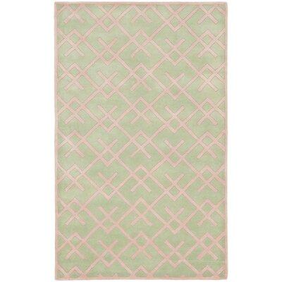 Wilkin Green Rug Rug Size: 5 x 8
