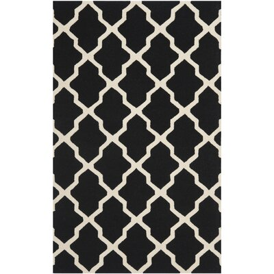 Charlenne Black & Ivory Area Rug Rug Size: Rectangle 5 x 8