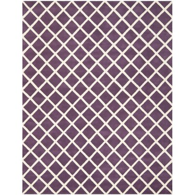 Wilkin Purple / Ivory Rug Rug Size: Rectangle 8' x 10'