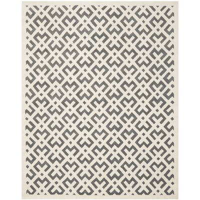 Wilkin Dark Grey/Ivory Area Rug Rug Size: Rectangle 89 x 12