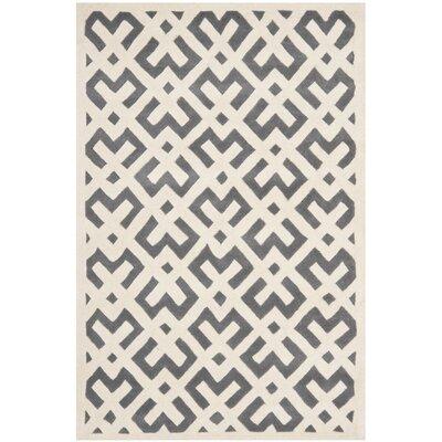 Wilkin Dark Grey/Ivory Area Rug Rug Size: 5 x 8