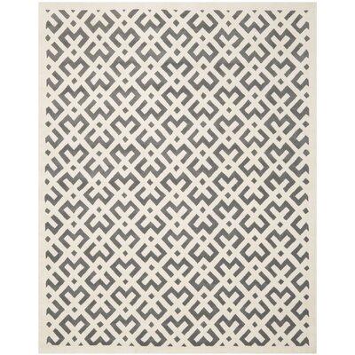 Wilkin Dark Grey/Ivory Area Rug Rug Size: 8'9