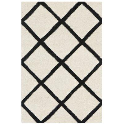 Wilkin Ivory / Black Rug Rug Size: 2 x 3