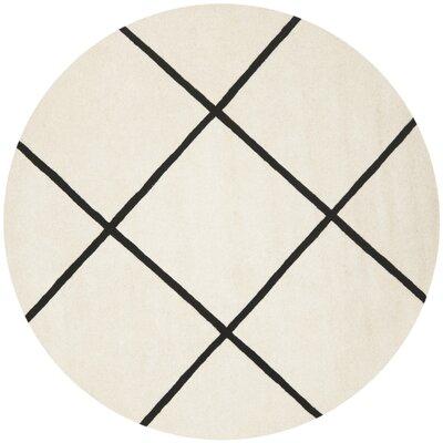 Wilkin Ivory / Black Rug Rug Size: Round 7'