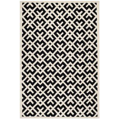 Wilkin Black / Ivory Area Rug Rug Size: 6 x 9