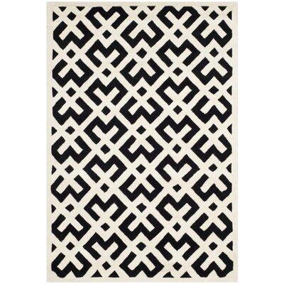 Wilkin Black / Ivory Area Rug Rug Size: 4 x 6