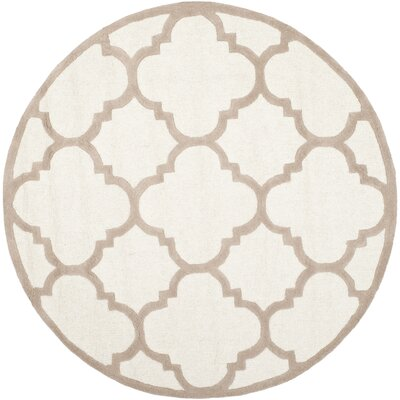 Charlenne Hand-Tufted Wool Ivory/Beige Area Rug Rug Size: Rectangle 26 x 4