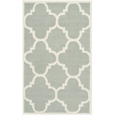 Wilkin Hand-Tufted Wool Gray/Ivory Area Rug Rug Size: Rectangle 3 x 5