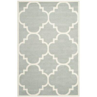 Wilkin Grey & Ivory Rug Rug Size: 6 x 9
