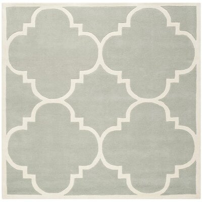 Wilkin Grey & Ivory Rug Rug Size: Square 89
