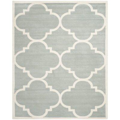 Wilkin Grey & Ivory Rug Rug Size: 10 x 14