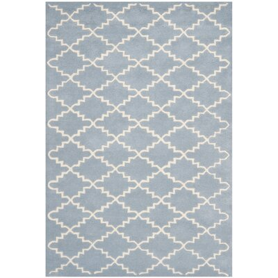 Wilkin Blue & Ivory Area Rug Rug Size: Rectangle 4 x 6