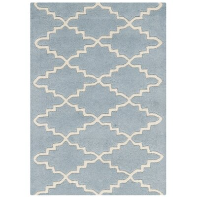 Wilkin Blue & Ivory Area Rug Rug Size: Rectangle 2 x 3