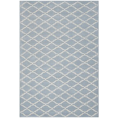 Wilkin Blue & Ivory Area Rug Rug Size: 6 x 9