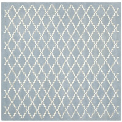 Wilkin Blue & Ivory Area Rug Rug Size: Square 7