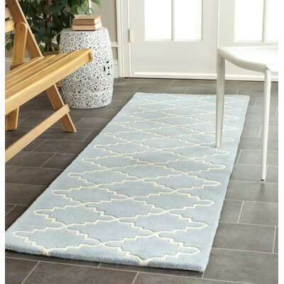 Wilkin Blue & Ivory Area Rug Rug Size: Runner 23 x 9