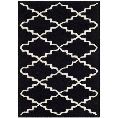 Wilkin Hand-Tufted Wool Black/Ivory Area Rug Rug Size: Rectangle 2 x 3