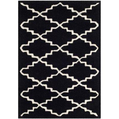 Wilkin Black / Ivory Rug Rug Size: 2 x 3
