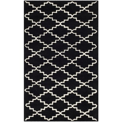 Wilkin Hand-Tufted Wool Black/Ivory Area Rug Rug Size: Rectangle 3 x 5