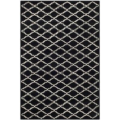 Wilkin Black / Ivory Rug Rug Size: 5 x 8