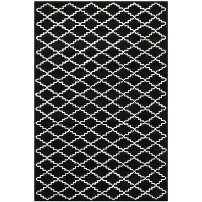 Wilkin Black / Ivory Rug Rug Size: 6 x 9